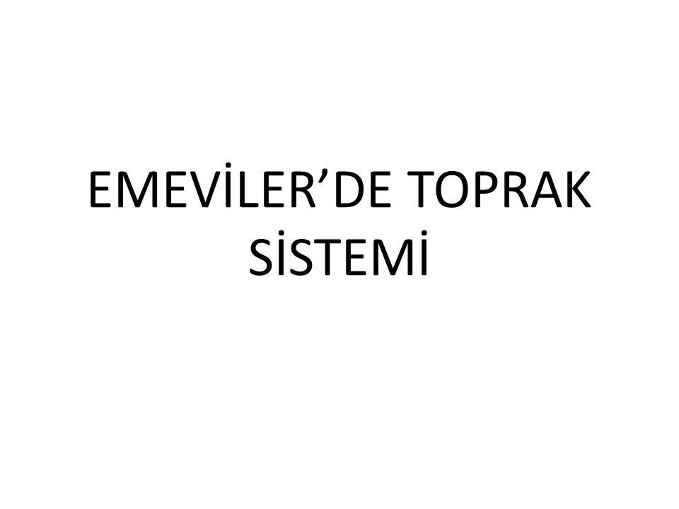 EMEVİLER'DE TOPRAK SİSTEMİ