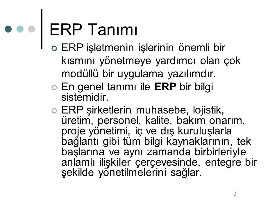 ERP Günümüzde hızla artan rekabet ortamı Bilgi Teknolojileri konusunda güncel yatırımları gerekli kılmaktadır.