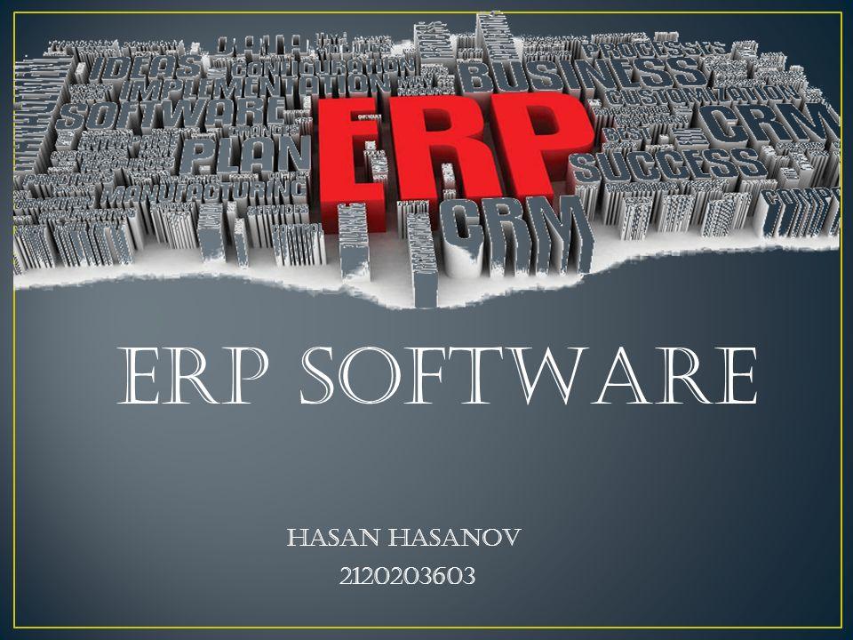 ERp SOFTWARE Hasan HASANOV 2120203603