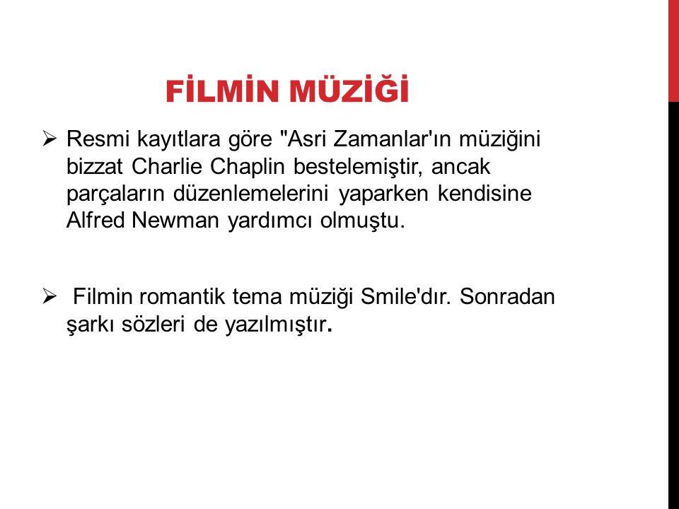 FİLMİN MÜZİĞİ  Resmi kayıtlara göre Asri Zamanlar ın müziğini bizzat Charlie Chaplin bestelemiştir, ancak parçaların düzenlemelerini yaparken kendisine Alfred Newman yardımcı olmuştu.