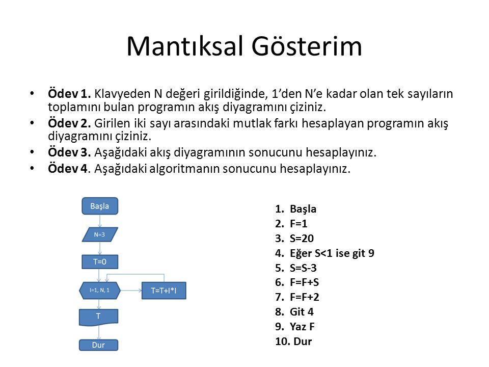 Mantıksal Gösterim Ödev 1.