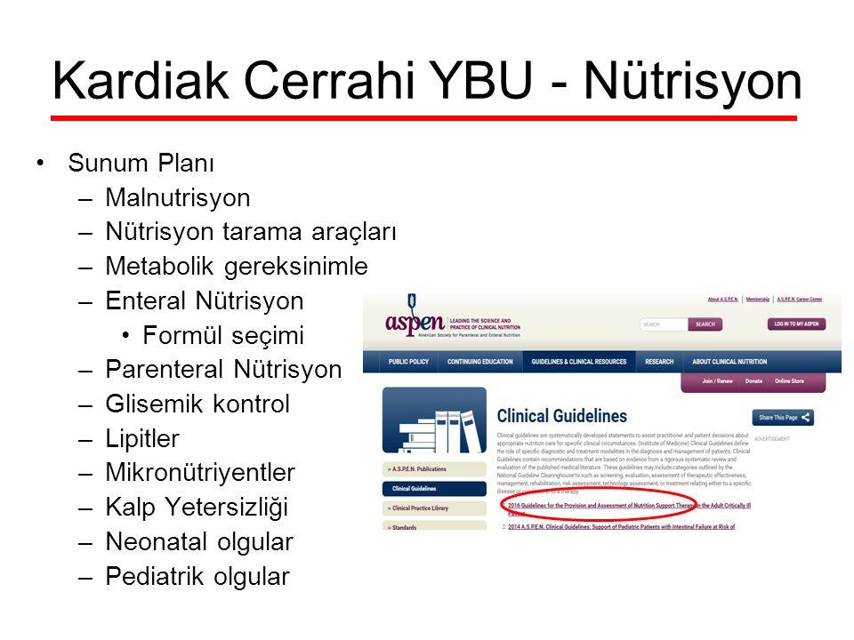 Kardiak Cerrahi YBU - Nütrisyon