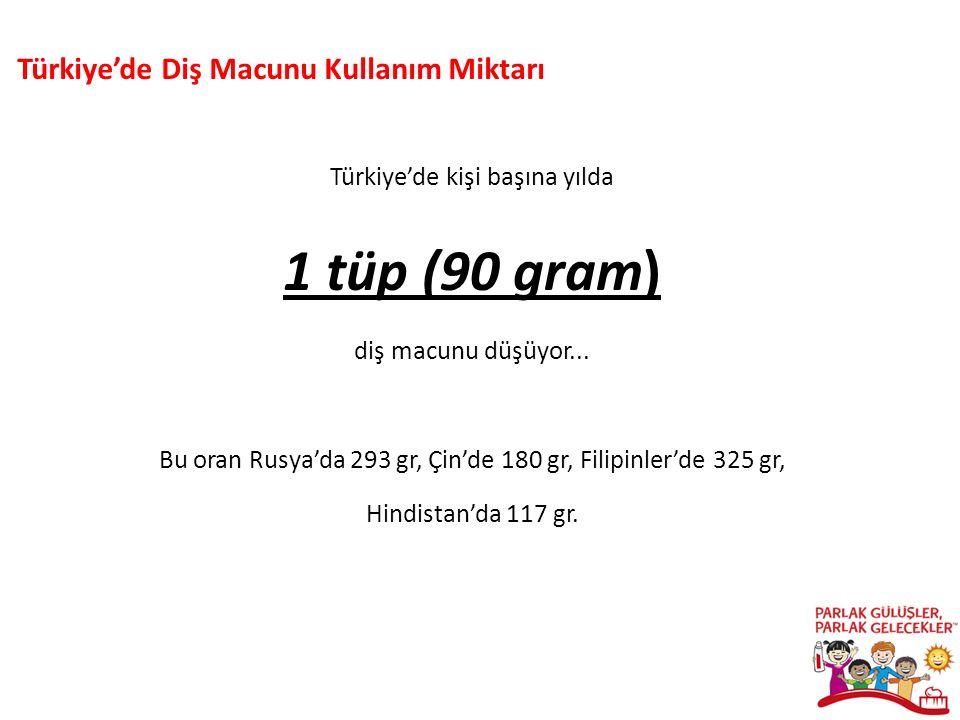 Türkiye'de yılda kişi başına 1 fırça düşerken (0,9) Türkiye'de Diş Fırçası Kullanım Miktarı