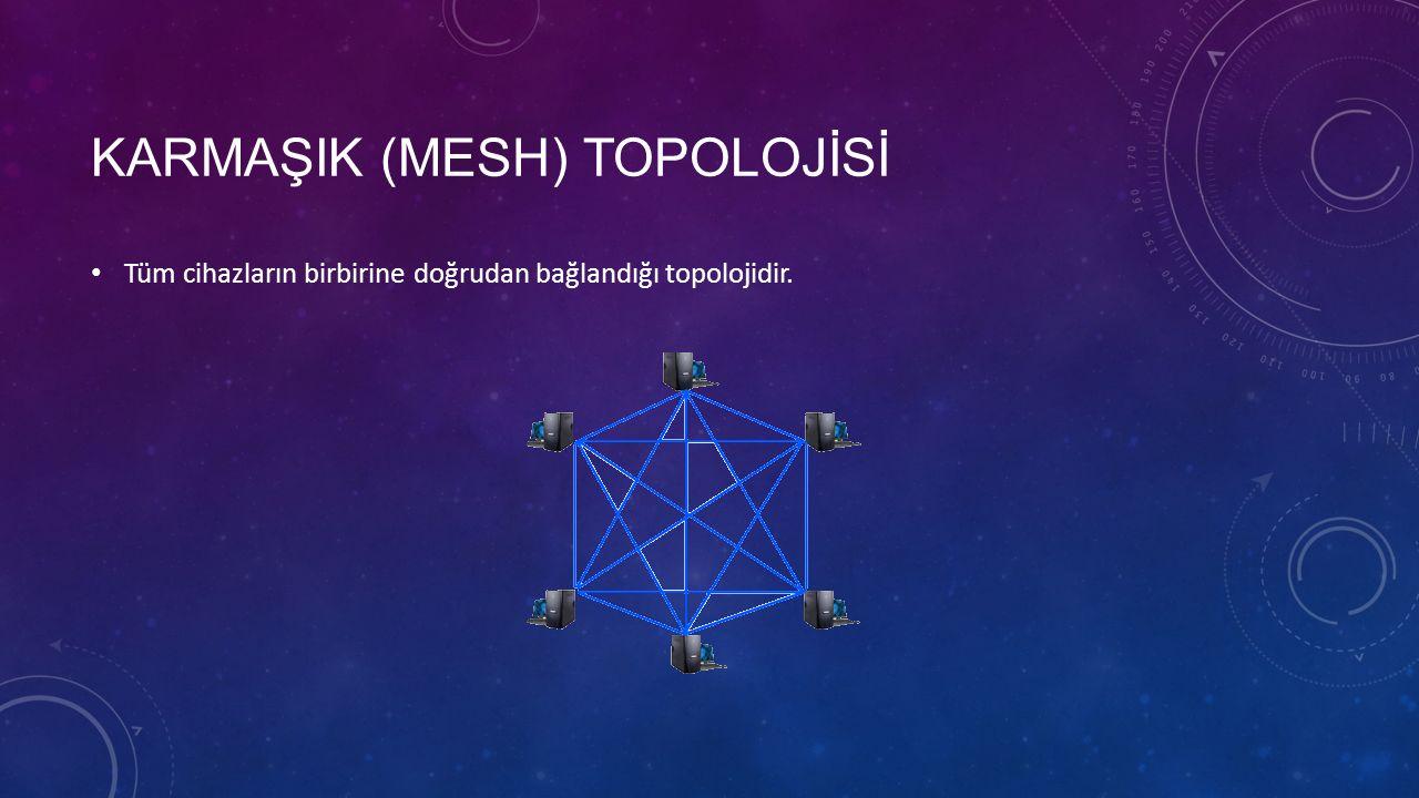 KARMAŞIK (MESH) TOPOLOJİSİ Tüm cihazların birbirine doğrudan bağlandığı topolojidir.