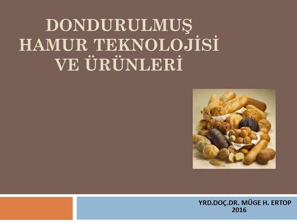 DONDURULMUŞ HAMUR TEKNOLOJİSİ VE ÜRÜNLERİ YRD.DOÇ.DR. MÜGE H. ERTOP 2016