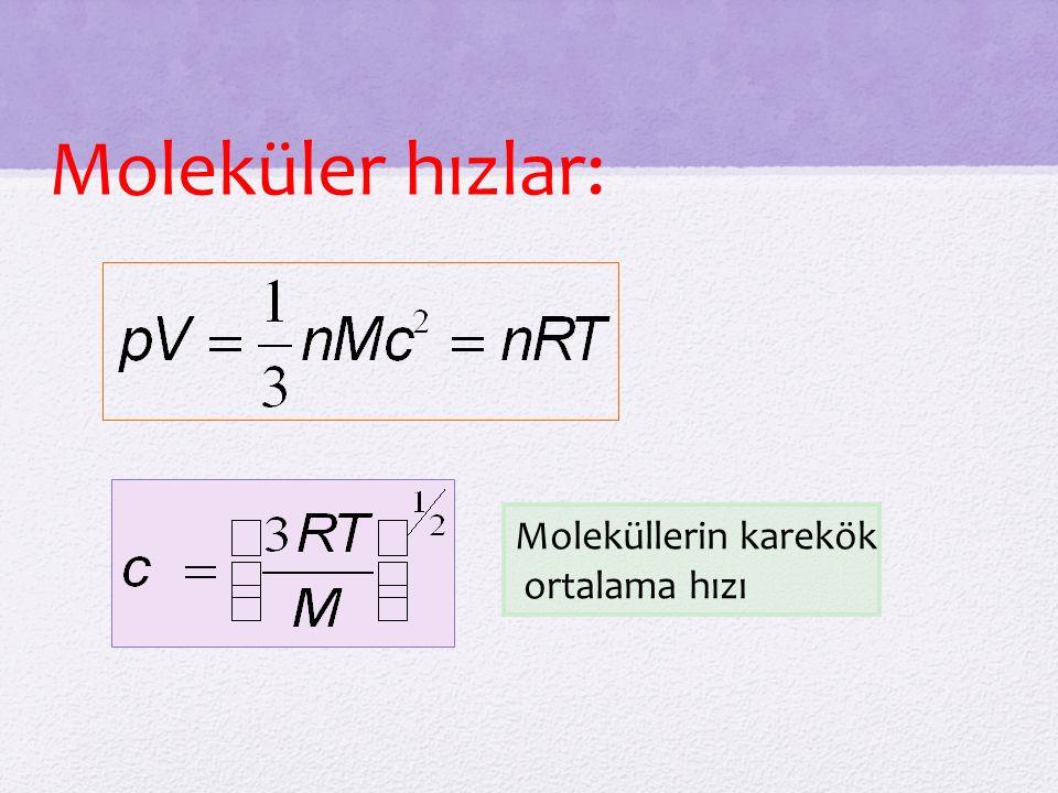 Moleküler hızlar: Moleküllerin karekök ortalama hızı