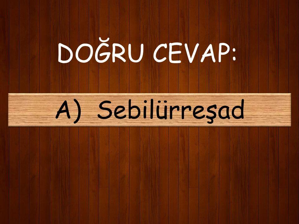 10) Mehmet Akif'in İstiklal harbini desteklediği yazılar kaleme aldığı Kastamonu'da çıkarılan derginin adı nedir? A) Sebilürreşad B) Sırat-ı Müstakim