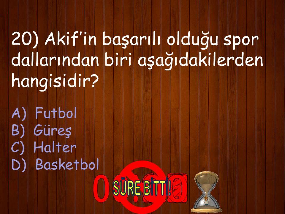 DOĞRU CEVAP: A) İstanbul
