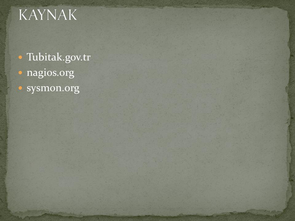 Tubitak.gov.tr nagios.org sysmon.org