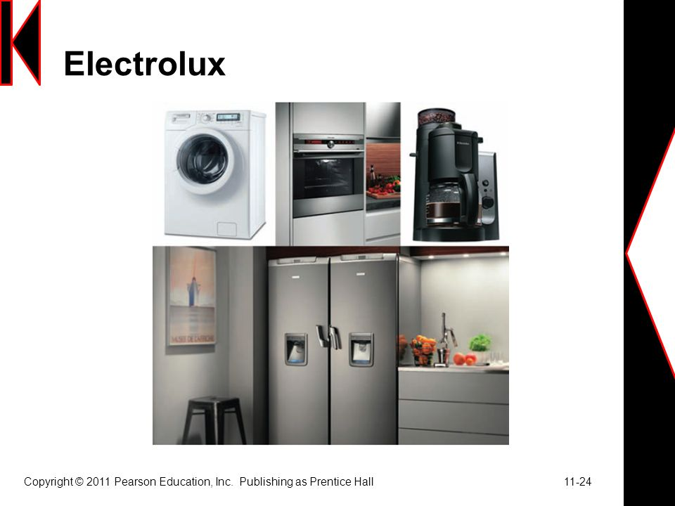 Electrolux Copyright © 2011 Pearson Education, Inc. Publishing as Prentice Hall 11-24