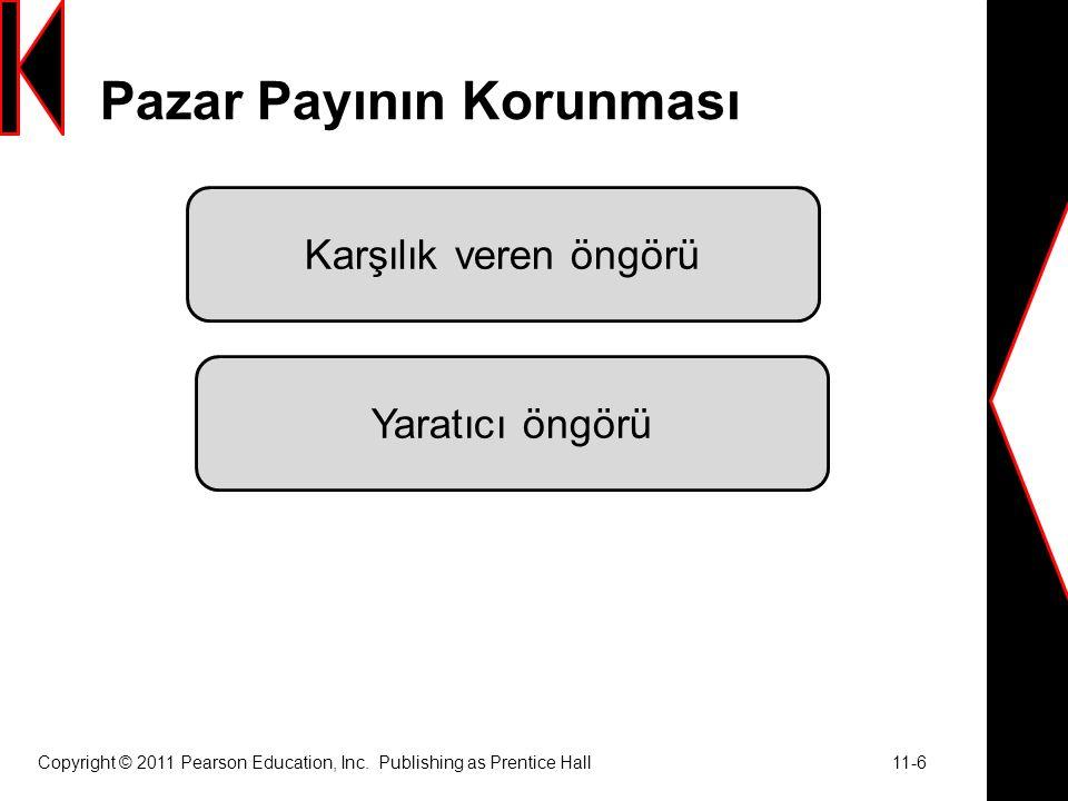 Ekonomik Gerileme Döneminde Pazarlama  Yatırım yapmak  Müşterilere yaklaşmak  Bütçeleri gözden geçirmek  Etkili bir değer önerisi kullanma  Dikkatlice öneri sunma Copyright © 2011 Pearson Education, Inc.