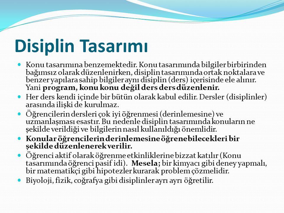 Türkiye'de Program Geliştirme Modelleri Türkiye'de program geliştirme çalışmaları doğrultusunda; Taba-Tyler modeline uygun olarak Özcan DEMİREL tarafından bir model hazırlanmıştır.