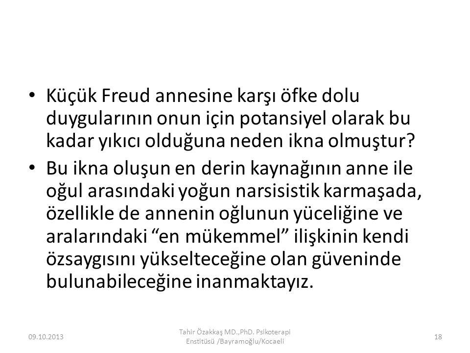 Küçük Freud annesine karşı öfke dolu duygularının onun için potansiyel olarak bu kadar yıkıcı olduğuna neden ikna olmuştur? Bu ikna oluşun en derin ka