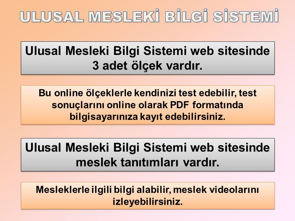 NASIL ÜYE OLABİLİRİM Ulusal Mesleki Bilgi Sistemi web sitesi üyelik sistemi ile çalışmaktadır.