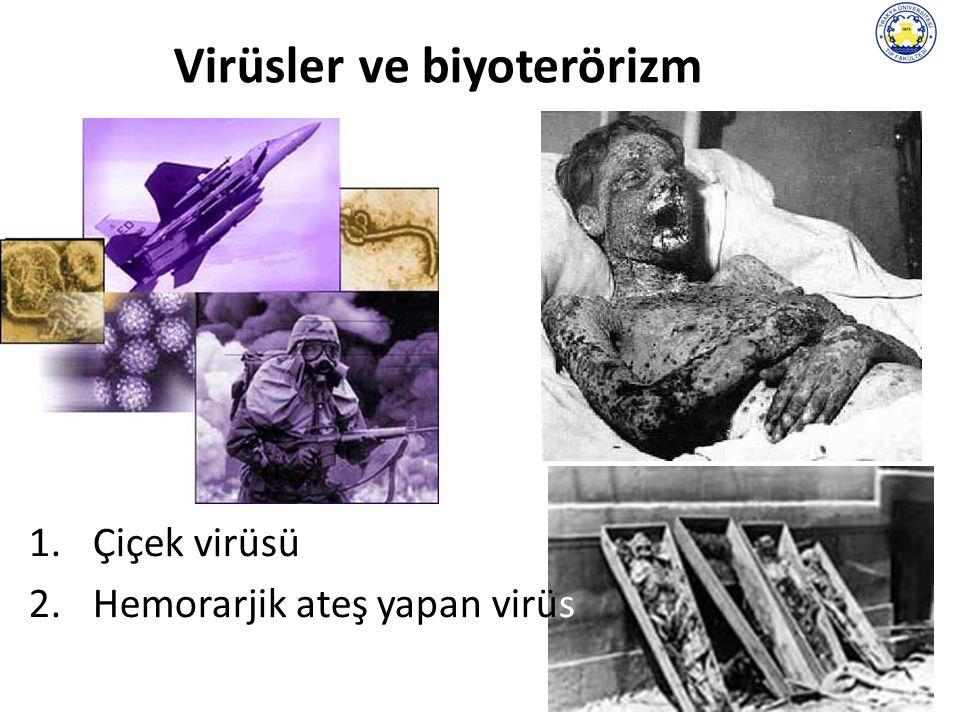 37 Virüsler ve biyoterörizm 1.Çiçek virüsü 2.Hemorarjik ateş yapan virüs
