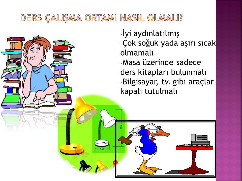 Ödev saatinde çocuğun ödev yapmaya başlayıp başlamadığı kontrol edilmelidir.