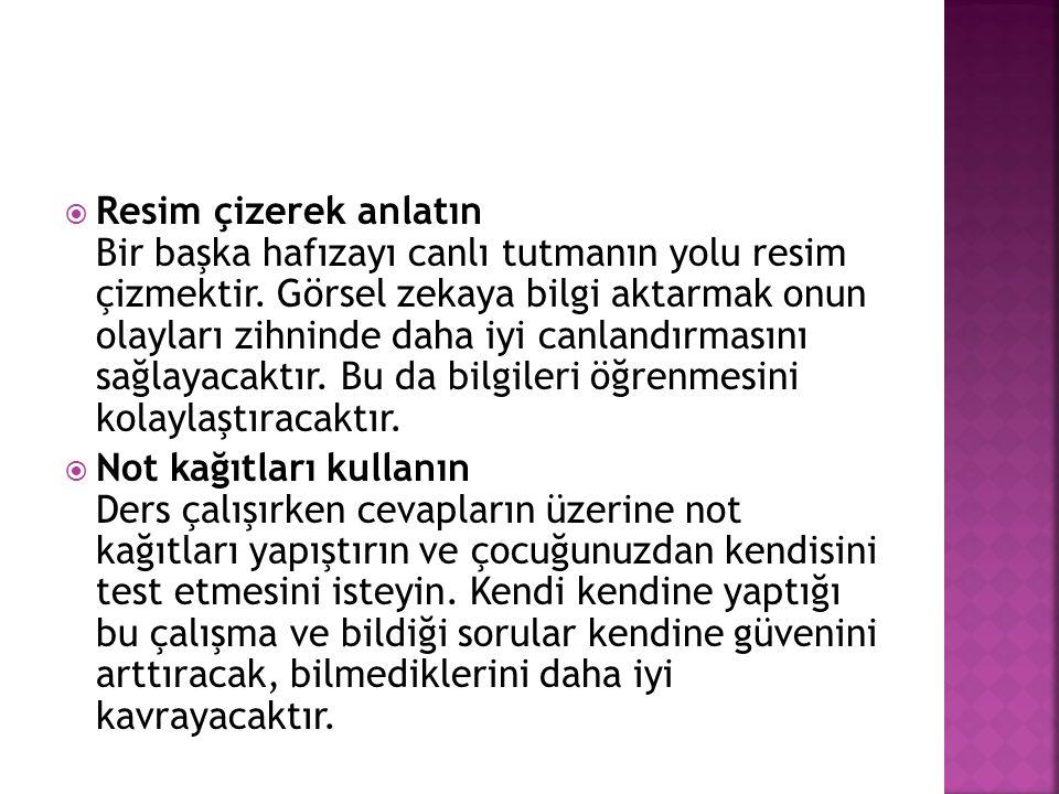  Türkçe çalışırken, Renkli kalemler kullanın Çocukların özellikle düz okuma parçalarında dikkatleri kolayca dağılabiliyor.