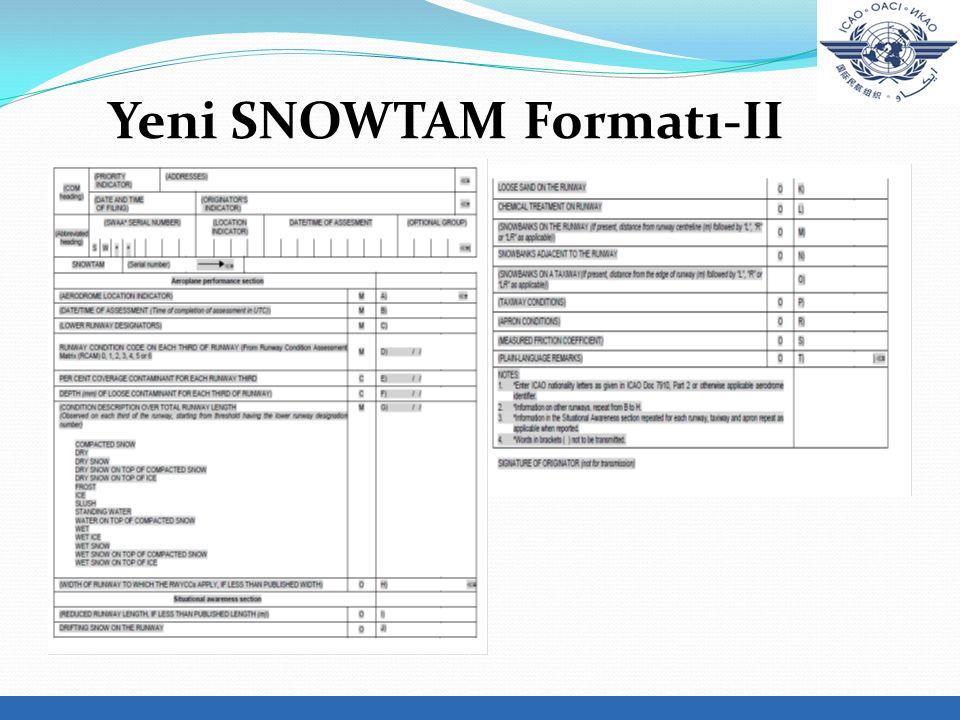 Yeni SNOWTAM Formatı-II.