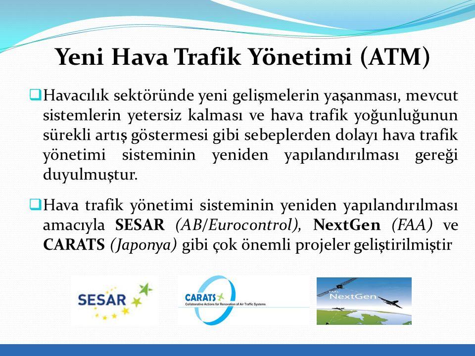 Yeni Hava Trafik Yönetimi (ATM)  Havacılık sektöründe yeni gelişmelerin yaşanması, mevcut sistemlerin yetersiz kalması ve hava trafik yoğunluğunun sürekli artış göstermesi gibi sebeplerden dolayı hava trafik yönetimi sisteminin yeniden yapılandırılması gereği duyulmuştur.