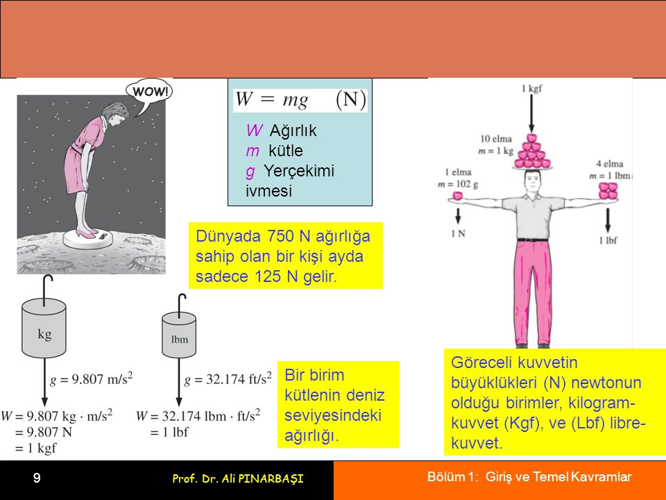 Bölüm 1: Giriş ve Temel Kavramlar 9 Prof.Dr.