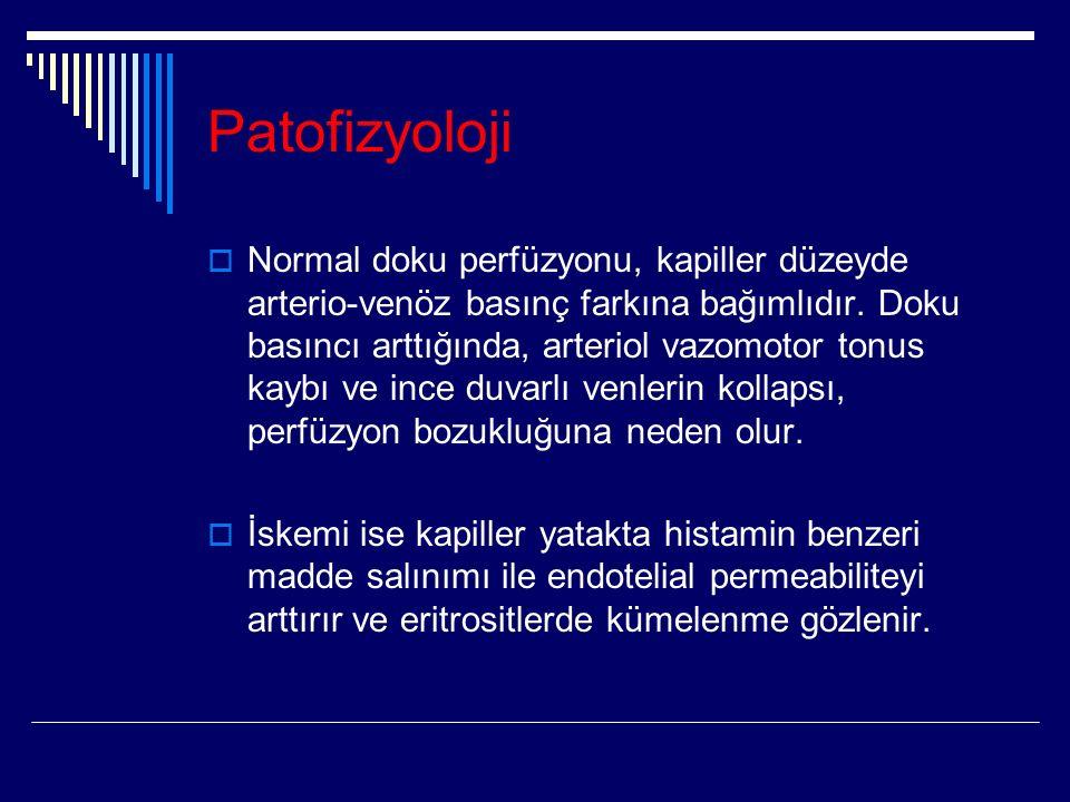 Patofizyoloji  Normal doku perfüzyonu, kapiller düzeyde arterio-venöz basınç farkına bağımlıdır.