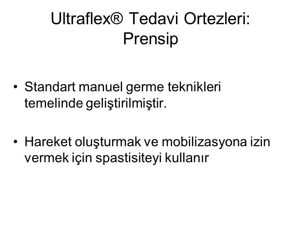 Ultraflex® Tedavi Ortezleri: Prensip Standart manuel germe teknikleri temelinde geliştirilmiştir. Hareket oluşturmak ve mobilizasyona izin vermek için