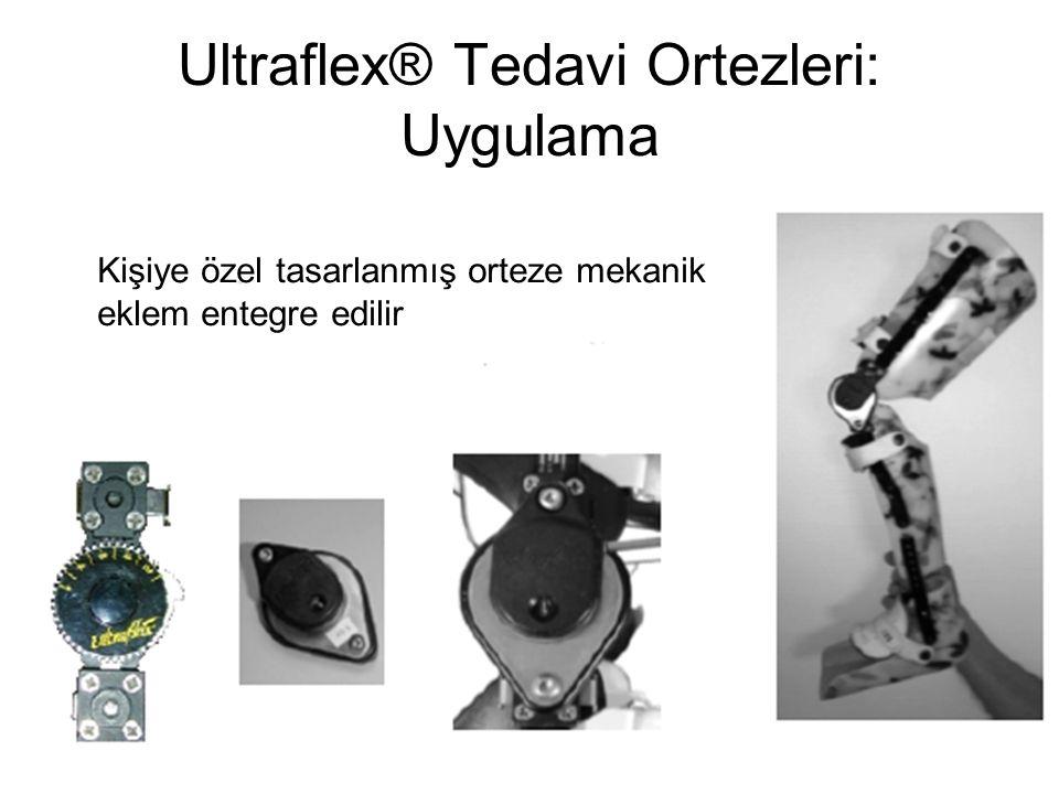 Ultraflex® Tedavi Ortezleri: Uygulama Kişiye özel tasarlanmış orteze mekanik eklem entegre edilir