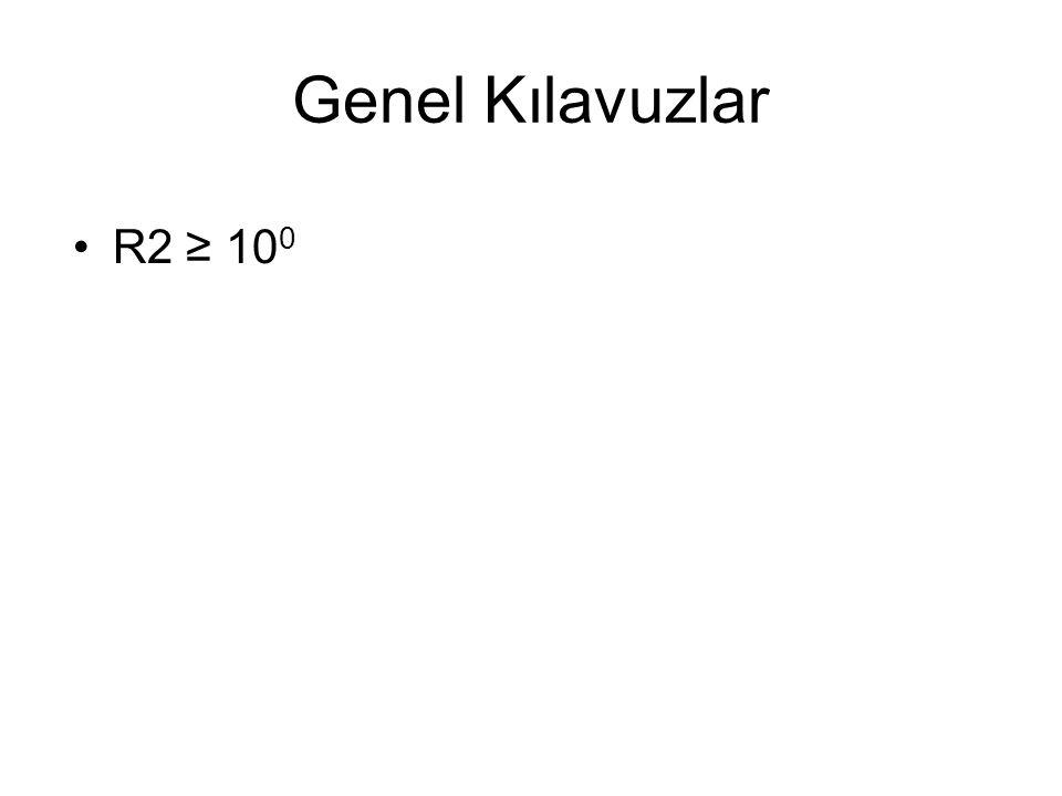 Genel Kılavuzlar R2 ≥ 10 0