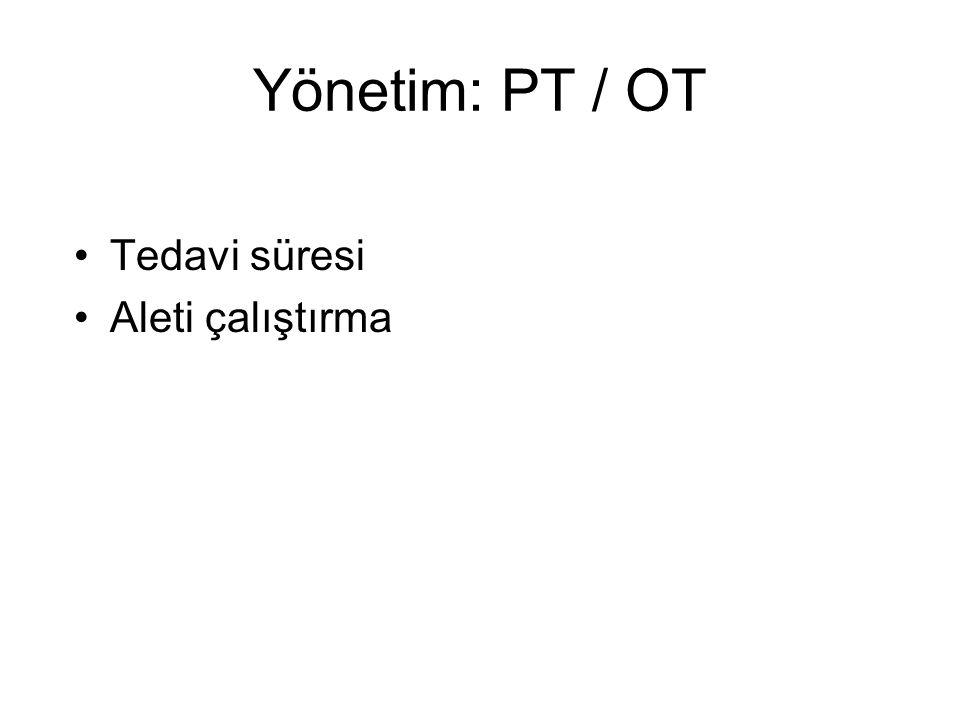 Yönetim: PT / OT Tedavi süresi Aleti çalıştırma