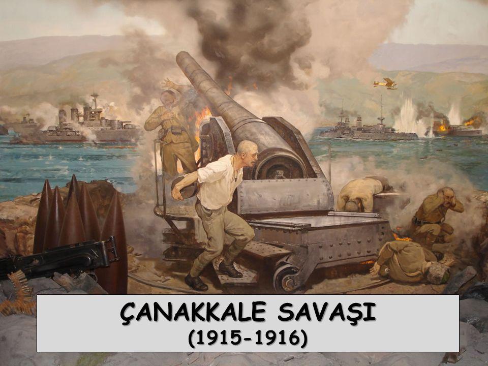  Çanakkale Zaferi, müttefikleriyle Rusya nın irtibatını önlemiş, dolayısıyla savaş iki yıl uzamış, bu arada çıkan Bolşevik ihtilali ile Rusya savaş dışı kalmıştır.