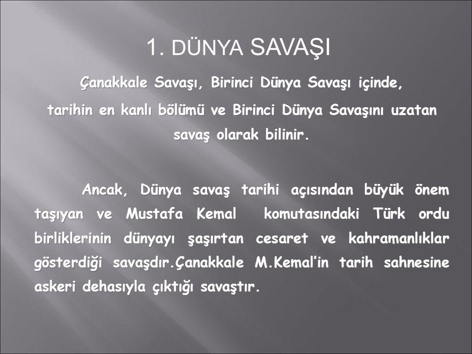 Çanakkale savaşı, Türk'ün sayısız zafer, şan ve şerefle dolu tarihinin EN PARLAK SAYFASIDIR.