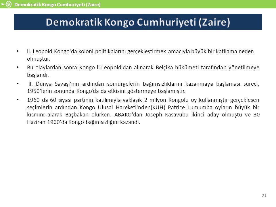 Demokratik Kongo Cumhuriyeti (Zaire) 21 ll.