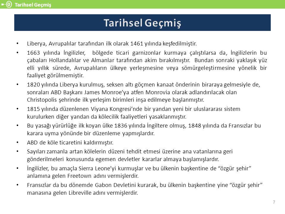 Liberya-Türkiye İlişkileri 18 Türkiye ve Liberya arasındaki diplomatik ilişkiler bugüne kadar üst düzey bir seyir izlememiştir.