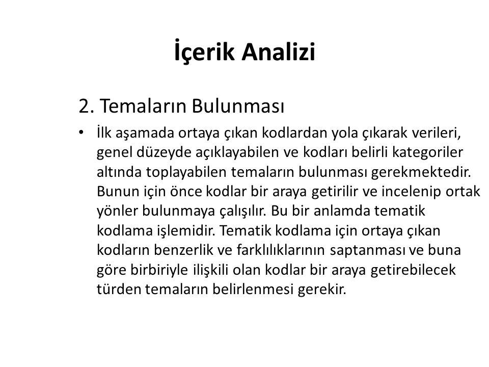 İçerik Analizi 2.