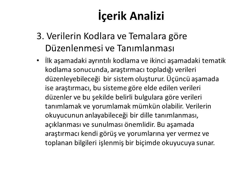 İçerik Analizi 3.