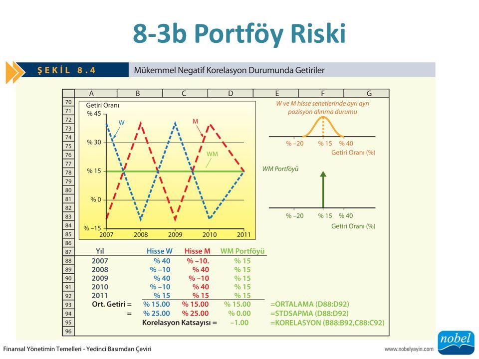 8-3b Portföy Riski