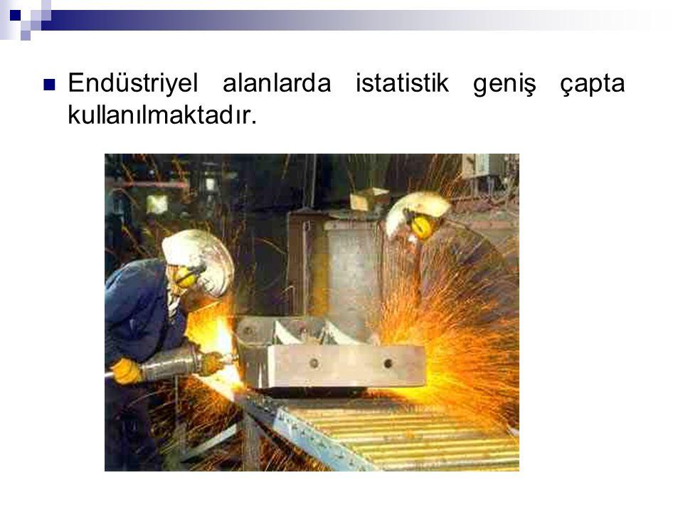 Endüstriyel alanlarda istatistik geniş çapta kullanılmaktadır.