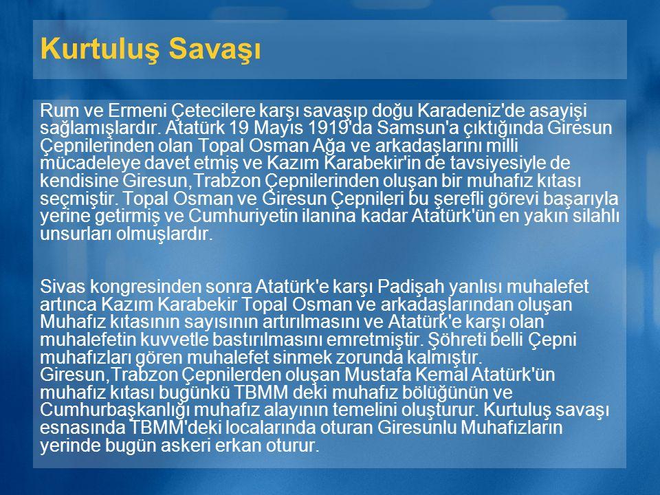 Rumeli ve Balkanlar da Çepniler Osmanlı devleti kurulmadan önce Sarı Saltuk ve İzzeddin Keykavusla birlikte Deliorman ve Dobruca bölgelerine geçen Türkmenler Çepni boyundandır.