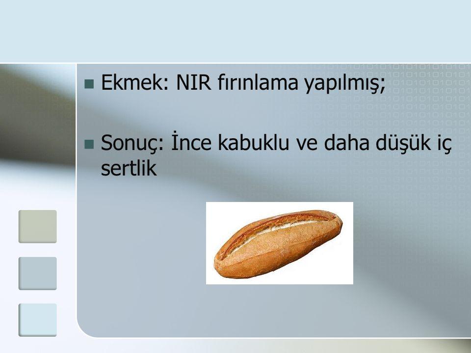 Ekmek: NIR fırınlama yapılmış; Sonuç: İnce kabuklu ve daha düşük iç sertlik