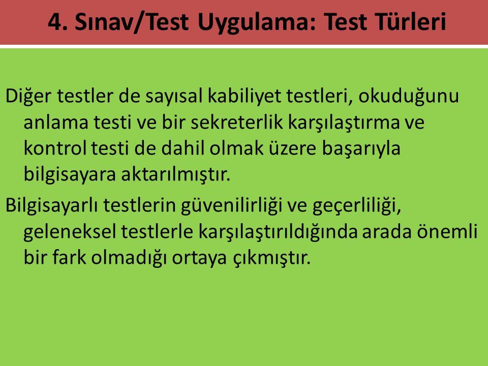Diğer testler de sayısal kabiliyet testleri, okuduğunu anlama testi ve bir sekreterlik karşılaştırma ve kontrol testi de dahil olmak üzere başarıyla b