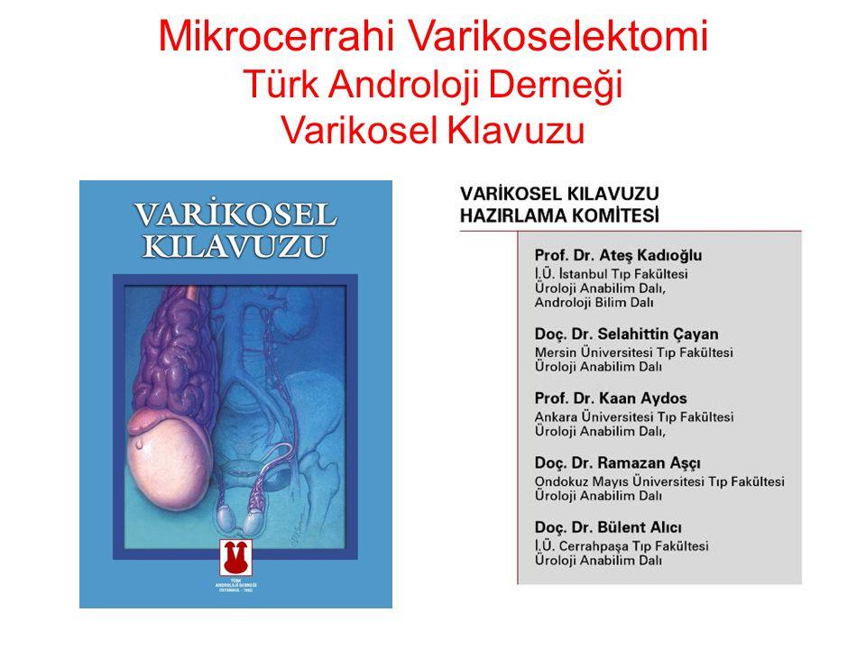 Mikrocerrahi Varikoselektomi Türk Androloji Derneği Varikosel Klavuzu