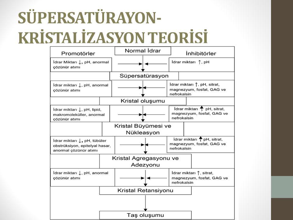 SÜPERSATÜRAYON- KRİSTALİZASYON TEORİSİ