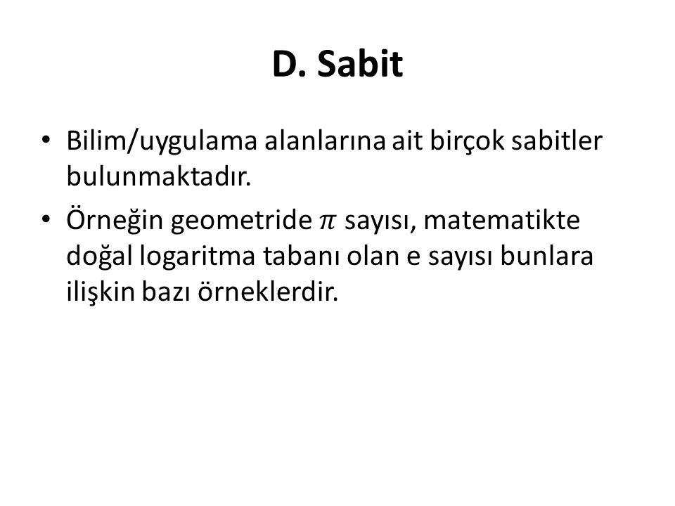 D. Sabit