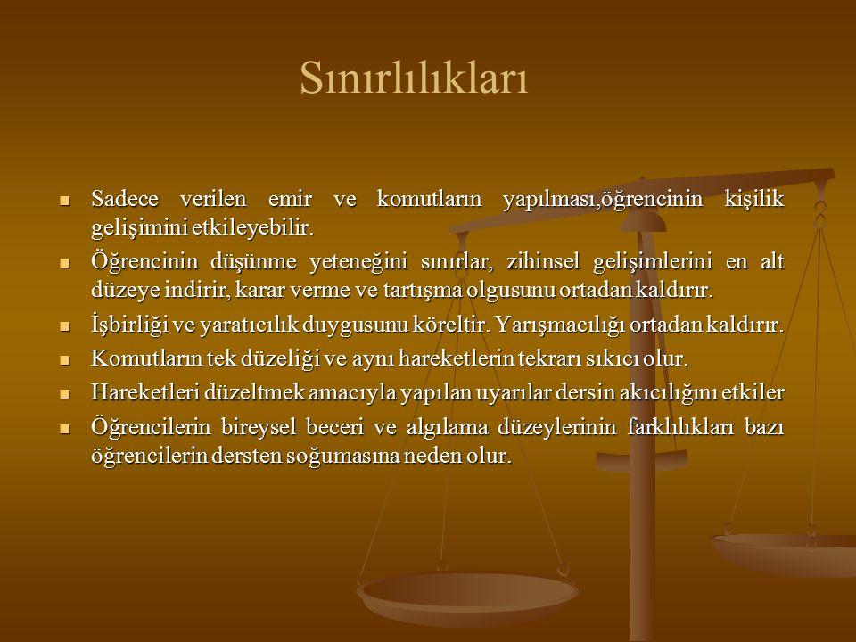 Kaynaklar Harmandar, İsmail Hakkı (2004).Beden Eğıtımı ve Sporda Özel Öğretim Yöntemleri.