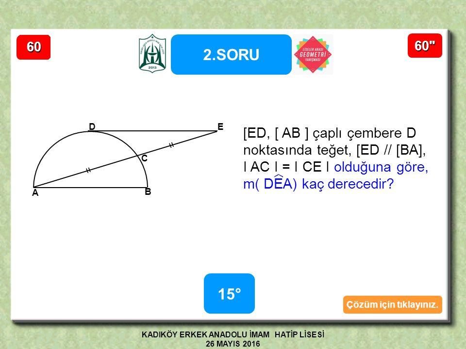 1.SORUNUN ÇÖZÜMÜ KE A İ H L G S KEA İ HL Şekilde KEA İ HL düzgün altıgeninde [ EG ]  [ GS ], [ GS ]  [ SH ], I GE I = 4cm,I GS I = 5 cm, I SH I = 8 cm olduğuna göre, Çevre( KEA İ HL ) = .