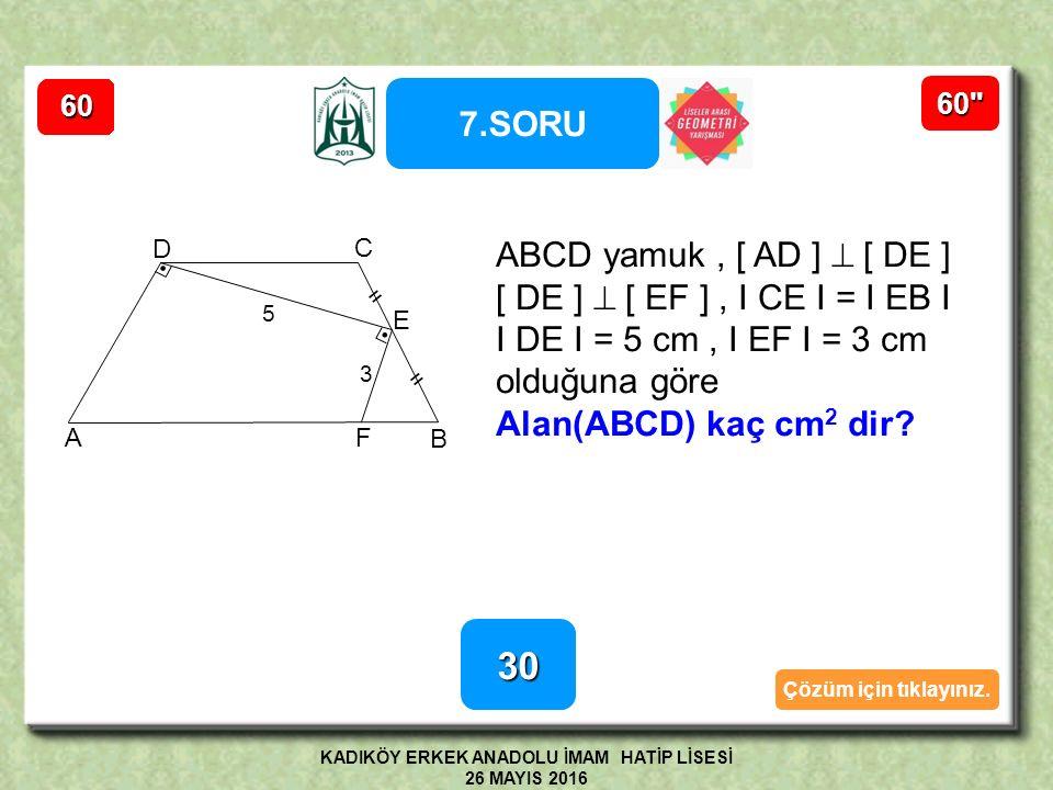 6.SORUNUNÇÖZÜMÜ B E A C D F Şekilde ABCDE bir düzgün beşgen [ BC]  [ CF ], I AE I = I EF I ise EFC açısının ölçüsü kaç derecedir.