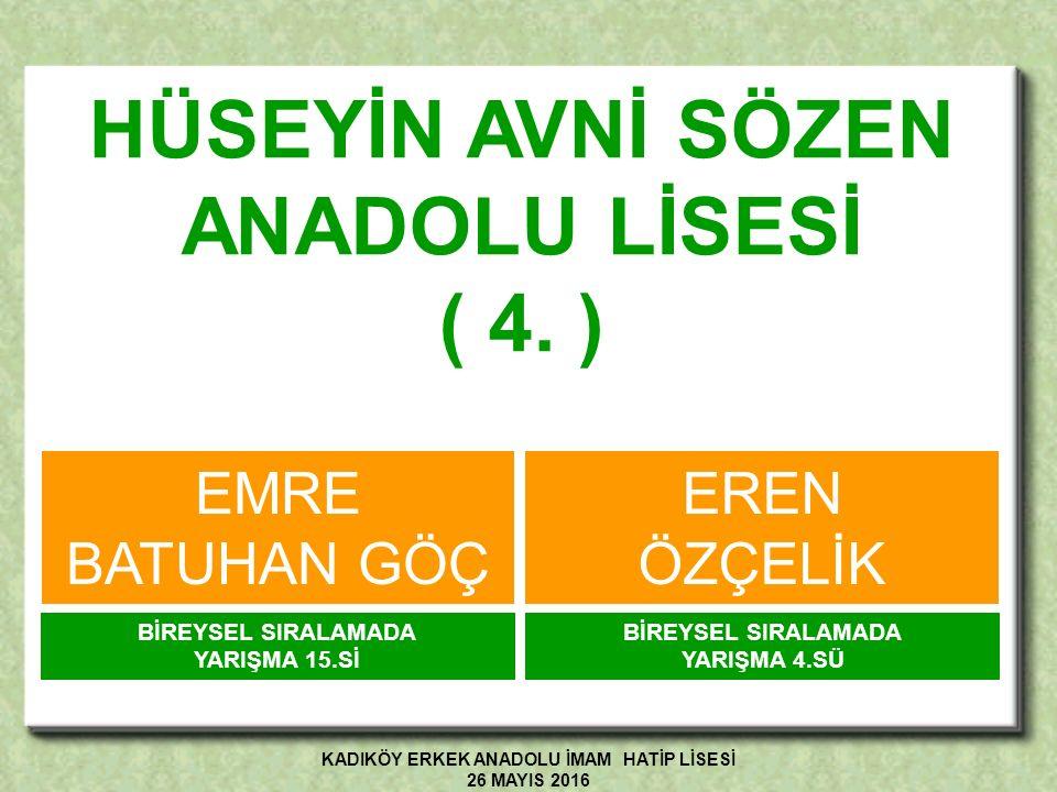 ÇAPA FEN LİSESİ ( 5.