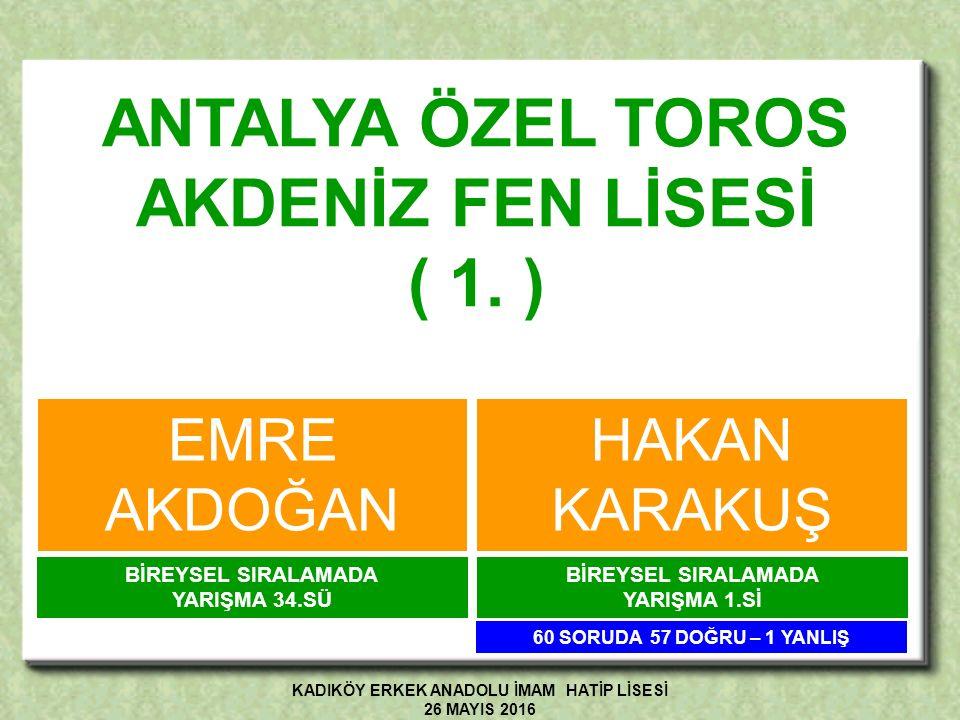 İSTANBUL ATATÜRK FEN LİSESİ ( 2.