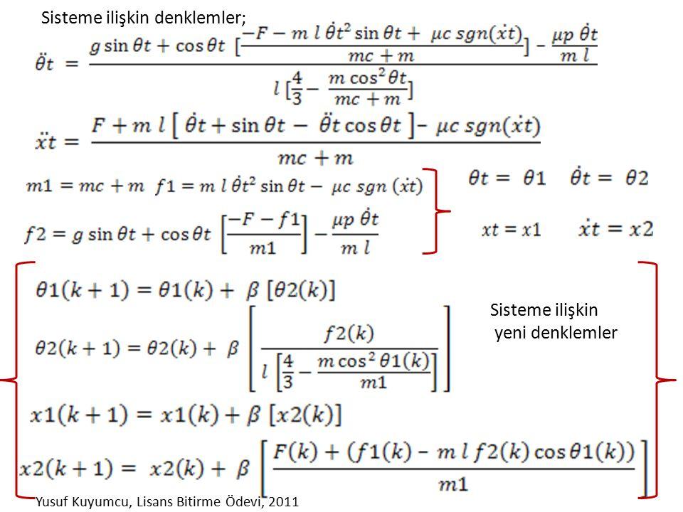 Sisteme ilişkin denklemler; Sisteme ilişkin yeni denklemler Yusuf Kuyumcu, Lisans Bitirme Ödevi, 2011