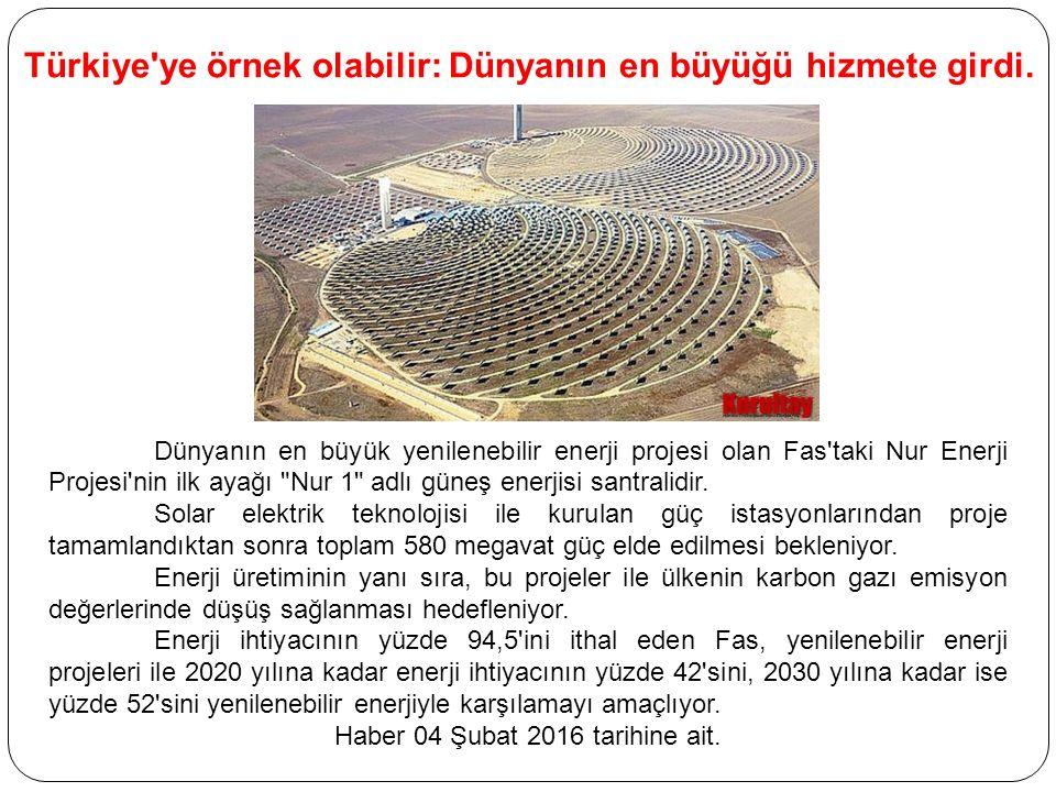 Türkiye ye örnek olabilir: Dünyanın en büyüğü hizmete girdi.